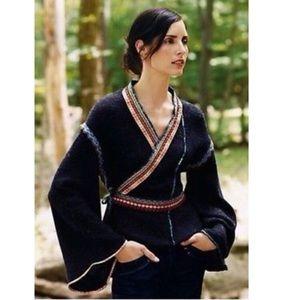 Moth Corn Wind Kimono wrap cardigan